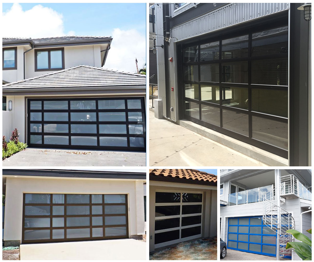 image of different aluminum garage doors by Raynor