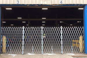image of commercial steel folding gate