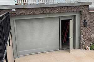 image of roll up and entry door for storage unit
