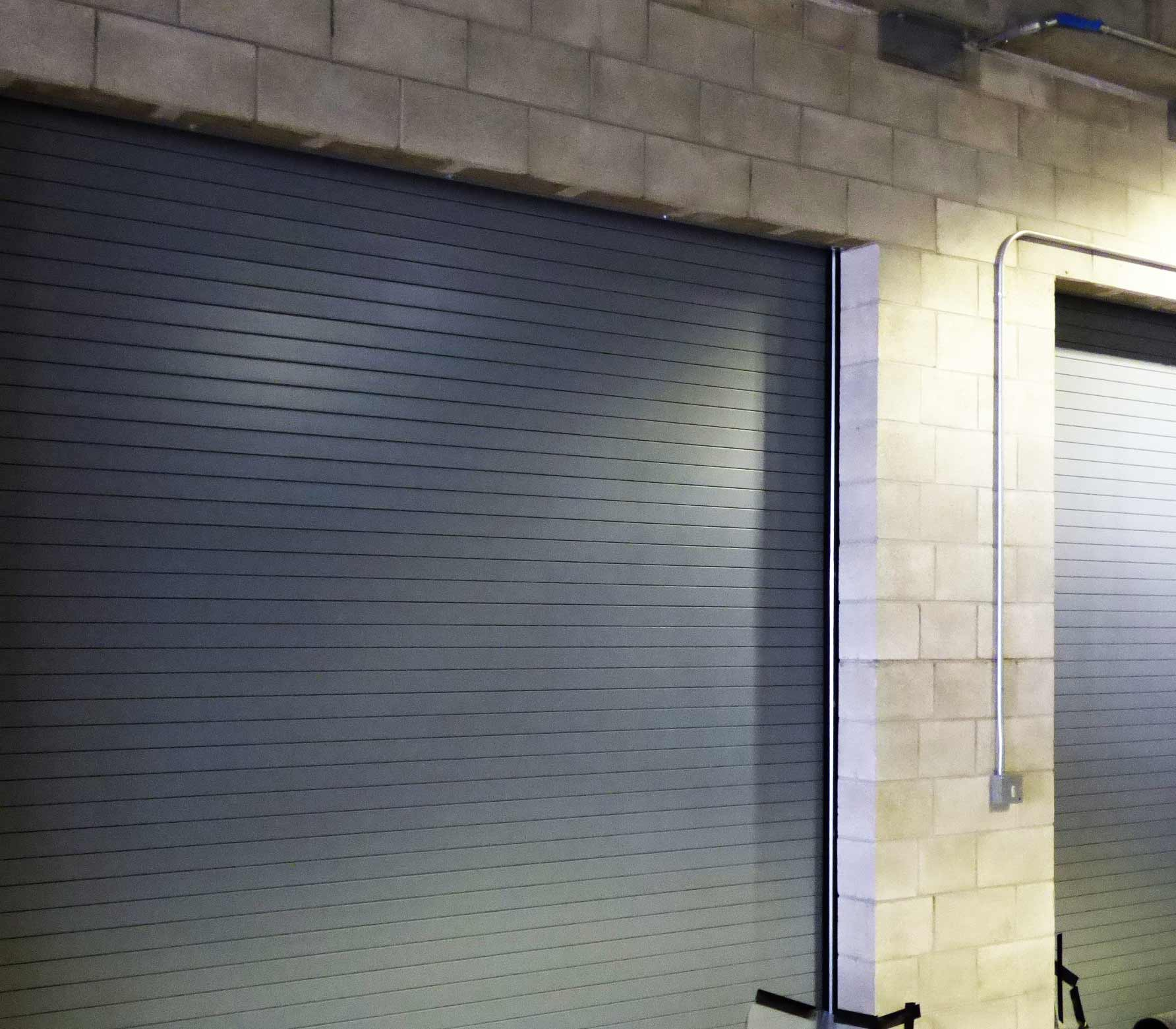 image of large, commercial fire door.