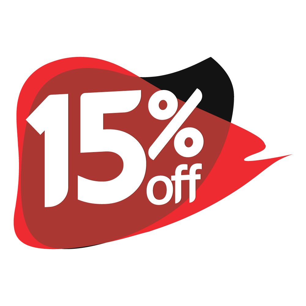 15% discount graphic